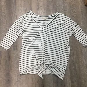 Express | Striped Blouse with Tye